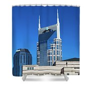 Batman Building And Nashville Skyline Shower Curtain