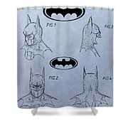 Batman Mask Patent Shower Curtain