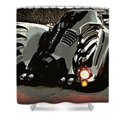 Batmobile 2 Shower Curtain by Cathy Smith