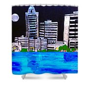 Baton Rouge Aka Red Stick Impression Shower Curtain