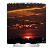 Baton Rouge Sizzling Sunday Sunset  Shower Curtain
