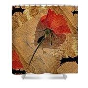 Bats And Roses Shower Curtain