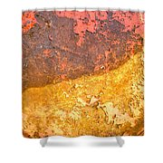Battered To Rust Shower Curtain