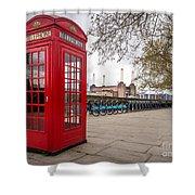 Battersea Phone Box Shower Curtain