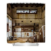 Battersea Power Station Interior Shower Curtain