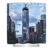 Battery Park Walk Shower Curtain