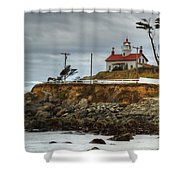 Battery Point Lighthouse 1 B Shower Curtain