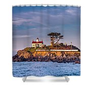Battery Point Lighthouse Morning Shower Curtain