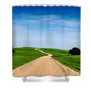 Battle Creek Road From The Saddle Shower Curtain