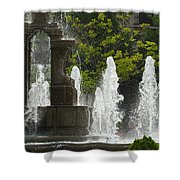 Battle Fountain Shower Curtain