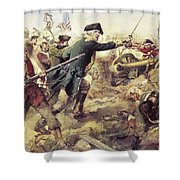 Battle Of Bennington Shower Curtain by Frederick Coffay Yohn