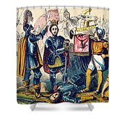 Battle Of Bosworth, Henry Vii Crowning Shower Curtain