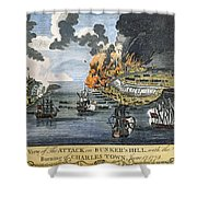 Battle Of Bunker Hill, 1775 Shower Curtain