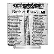 Battle Of Bunker Hill Shower Curtain