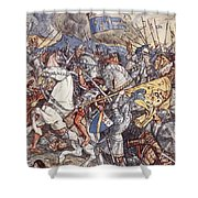 Battle Of Fornovo, Illustration Shower Curtain