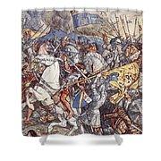 Battle Of Fornovo, Illustration Shower Curtain