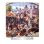 Battle Of Nevilles Cross 1346 Shower Curtain