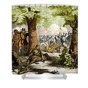 Battle Of Oriskany, 1777 Shower Curtain