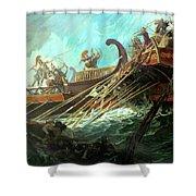 Battle Of Salamis, 480 Bce Shower Curtain