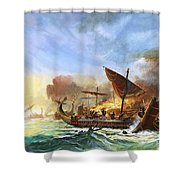 Battle Of Salamis Shower Curtain