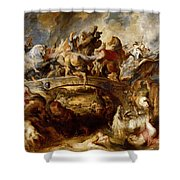 Battle Of The Amazons Shower Curtain