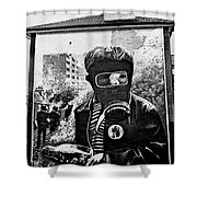 Battle Of The Bogside Mural II Shower Curtain