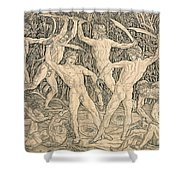 Battle Of The Nudes Shower Curtain