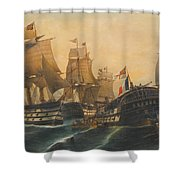 Battle Of Trafalgar Shower Curtain