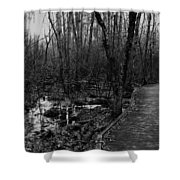 Battle Road Boardwalk Shower Curtain
