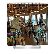 Battle Ship Cove Carousel Shower Curtain