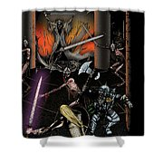 Battle With The Mage-king Shower Curtain