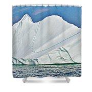 Batwing Iceberg In Saint Anthony Bay-newfoundland-canada  Shower Curtain