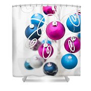 Baubles From Above Shower Curtain by Anne Gilbert