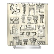 Baustile I And Baustile II Shower Curtain