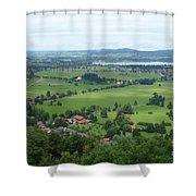 Bavarian Green Valley Shower Curtain