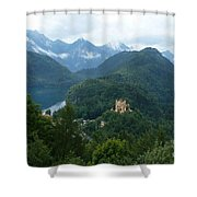 Bavarian Lake With Castle Shower Curtain