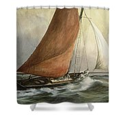 Bawley In The Estuary Shower Curtain