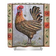 Baxter The Rooster Shower Curtain