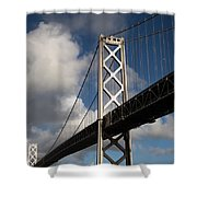 Bay Bridge After The Storm Shower Curtain