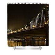 Bay Bridge And Fog  Shower Curtain