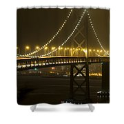 Bay Bridge Fog Shower Curtain