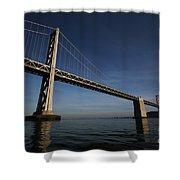 Bay Bridge Noir Shower Curtain