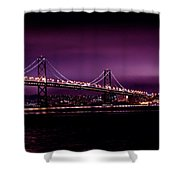 Bay Bridge Purple Haze Shower Curtain