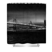 Bay Bridge Blackout Shower Curtain