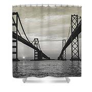 Bay Bridge Strong Shower Curtain