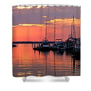 Bay Bridge Sunset Shower Curtain