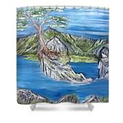 Bay View In Oregon Shower Curtain