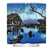 Bay View Morro Bay California Shower Curtain