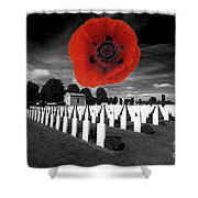 Bayeaux Cemetry  Shower Curtain