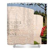 Bayeux British Cemetery Unknown Soldier Shower Curtain